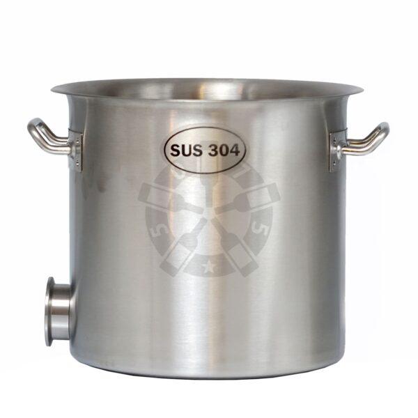 Куб 12л - 304 сталь, без крышки + муфта под кран + выход под ТЭН