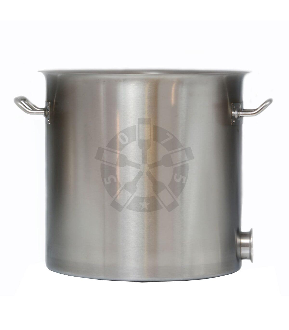 Куб 20 л - 304 сталь, без крышки + муфта под кран + выход под ТЭН