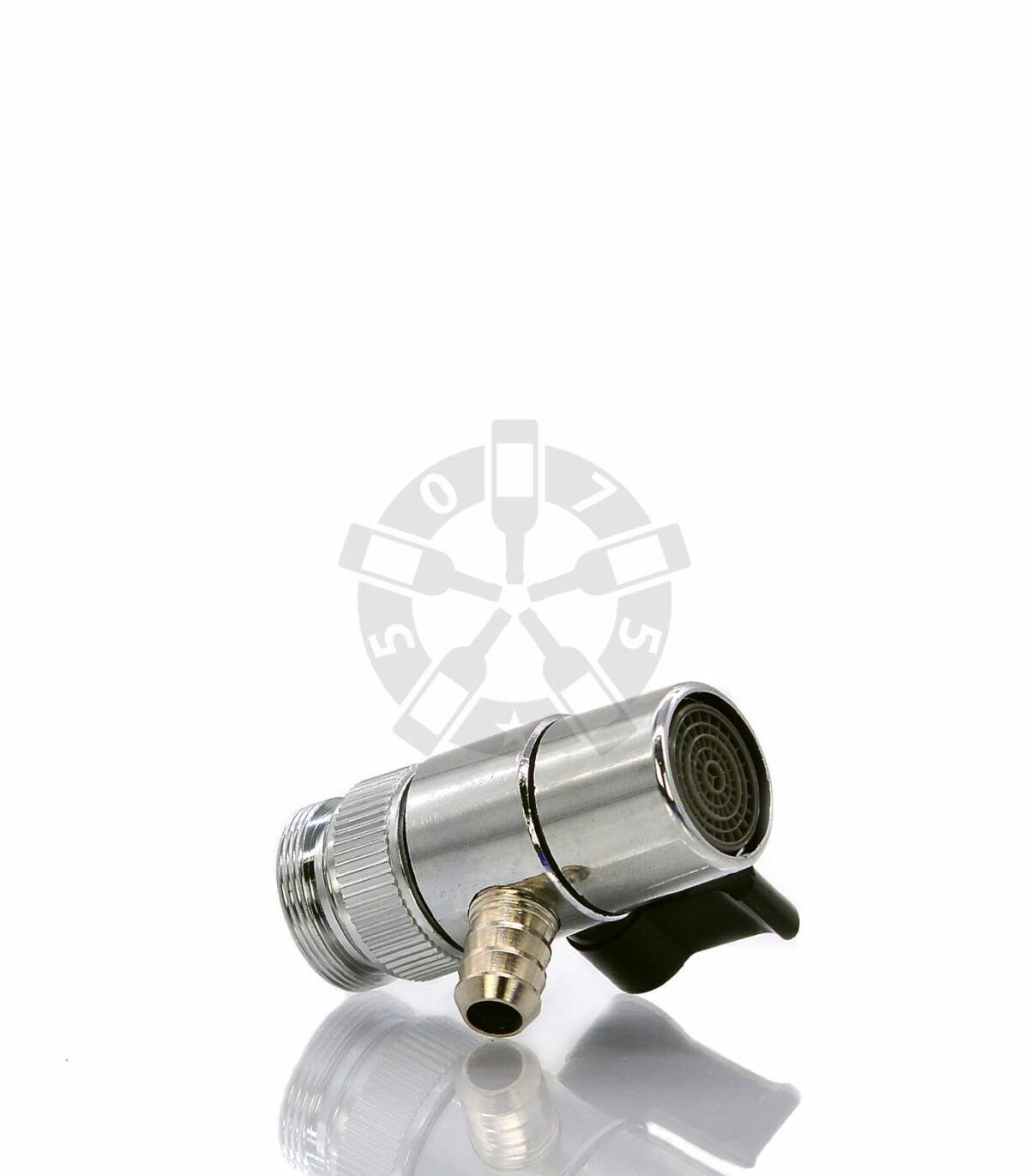Дивертор, штуцер 10.2 мм с металл.переходником (Ёлочка)